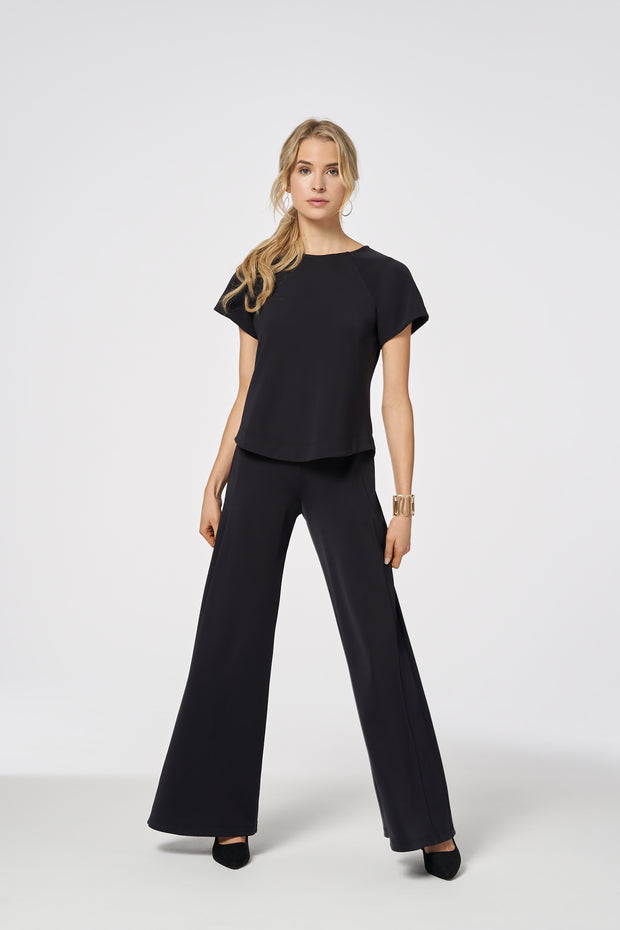 Black Black Performance Wide-Leg Pant