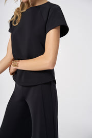 Black Slim Light Fit Top