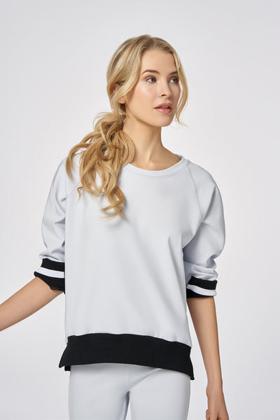 cloud-dust|Cloud Dust Performance Wide Ribbed Sweater
