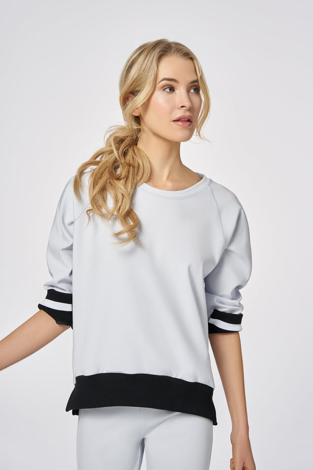 Cloud-dust Cloud Dust Performance Wide Ribbed Sweater