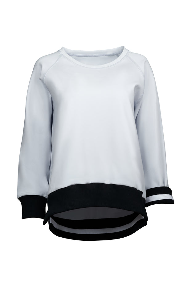 cloud-dust Performance Wide Ribbed Sweater