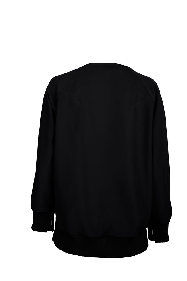 Black Wide Ribbed Sweater