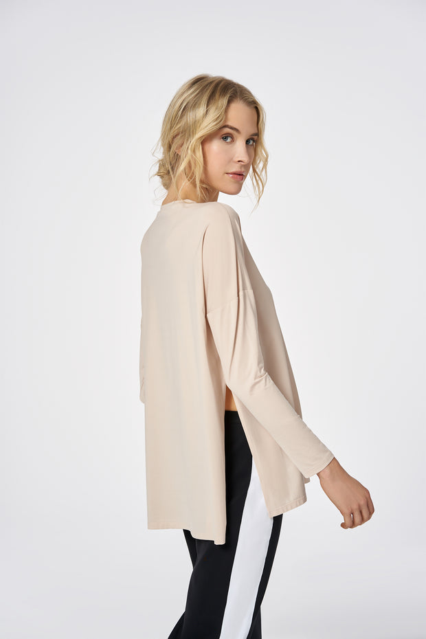 Nude Long Sleeve Light Tailored Top