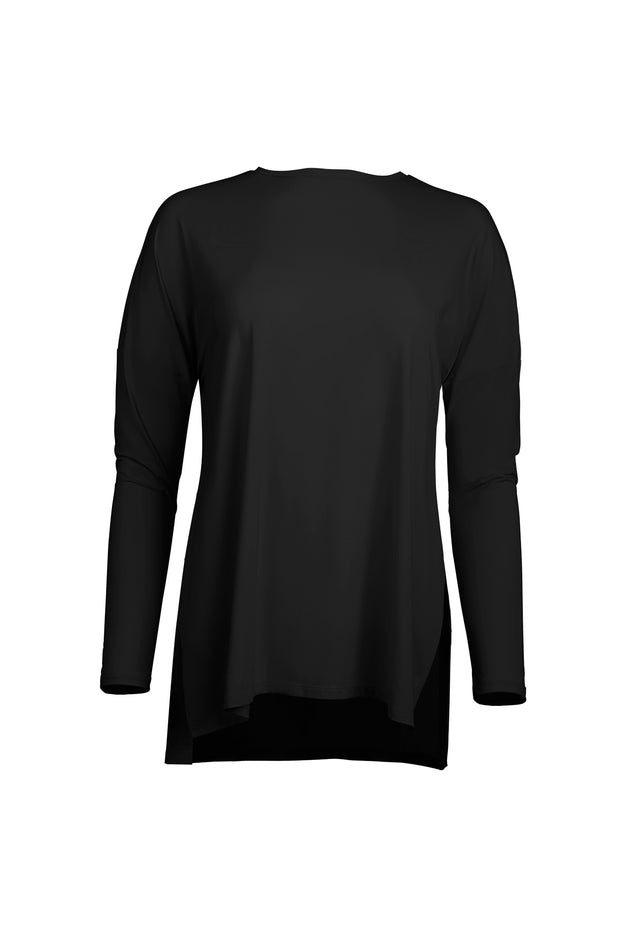 black Performance Long Sleeve Light Tailored Top