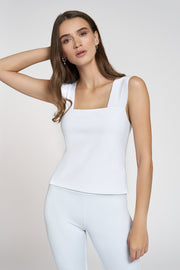 White Tank Shell Top