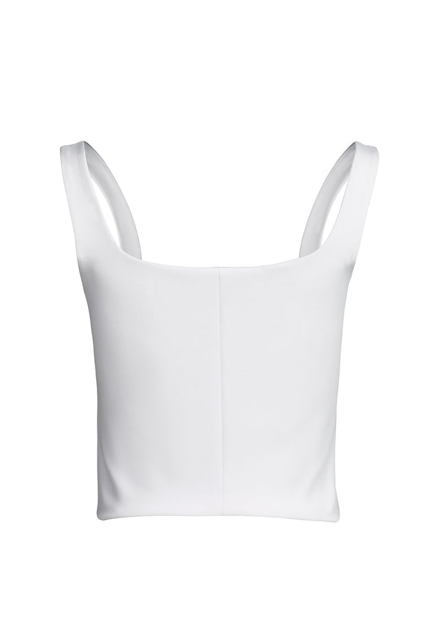 White Bustier Top