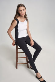Black Lined Leggings