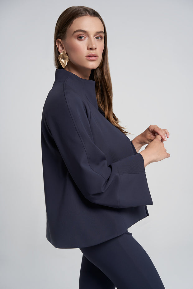 Night-sky Wide Sleeve Cropped Jacket