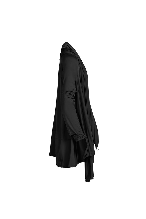 Black Cover Up Parka