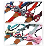 Boy's Fashion Bow Tie & Suspenders Set