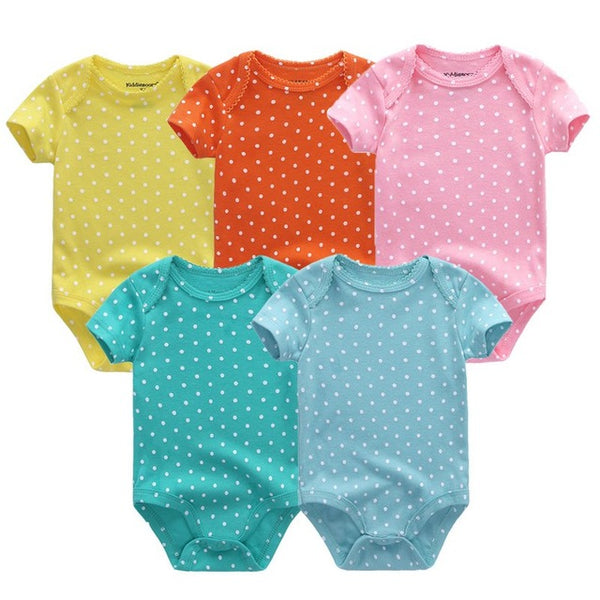 Girls 5 Piece Baby Onesie Set