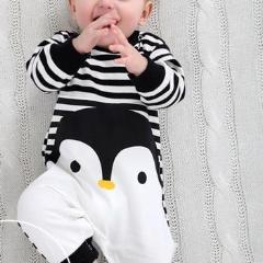 Penguin with Black & White Stripes