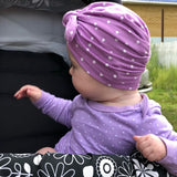 Polka Dot Head Wrap Turban