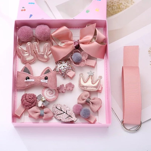 18 Piece Hair Accessories Box Set