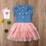 Denim Tulle Tutu Dress