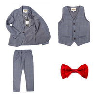 EZRA Formal 3-Piece Suit + Bow Tie Set
