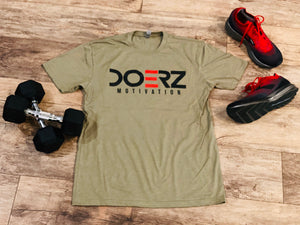Short Sleeve Army Green and Black Tee