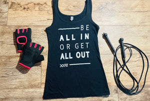 Be All In Black & White Tank