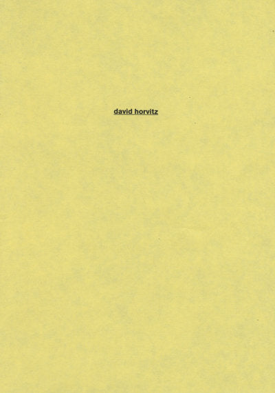 David Horvitz Family Zine 3/5 <br> by Kaugummi <br> SOLD OUT