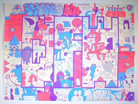 D.F.W. Limited Edition Silk Screen<br>by D.F.W. (signed by Barry Mcgee) <br> SOLD OUT
