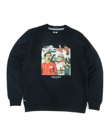 "Weekend Offender ""Yeti"" Sweatshirt in Navy"