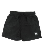"Weekend Offender ""Stacks"" Nylon Parachute Swim Shorts in Black"