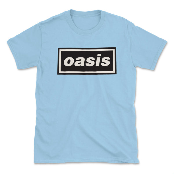 Official Oasis Logo T-Shirt - Light Blue