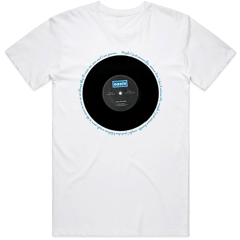 Official Oasis Live Forever Single T-Shirt - White