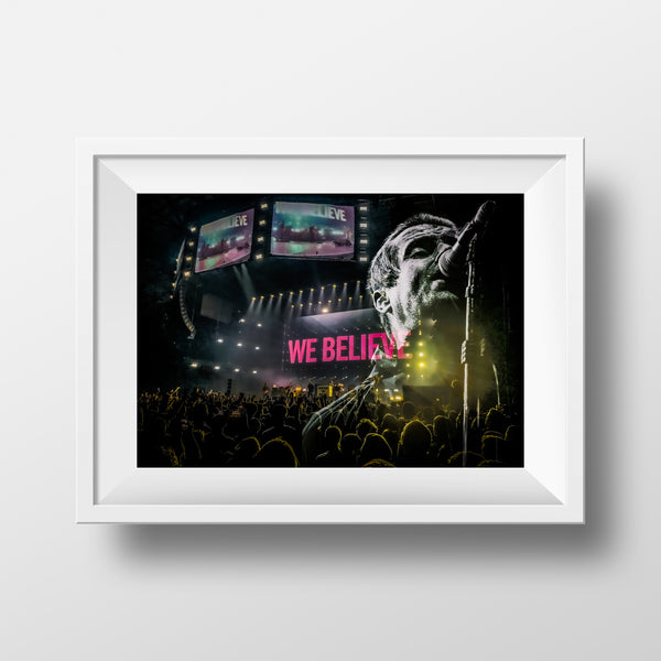 'We Believe' Liam Gallagher Print By Ricky Atterby