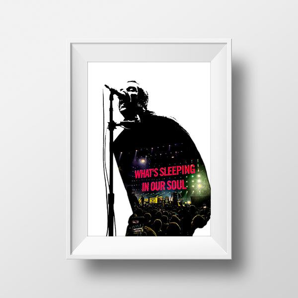 'What's Sleeping In Our Soul' Liam Gallagher Print By Ricky Atterby