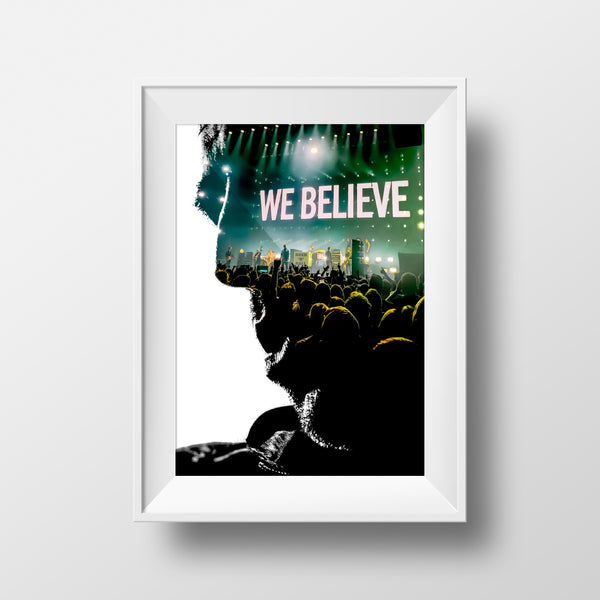 'We Believe Head' Liam Gallagher Print By Ricky Atterby