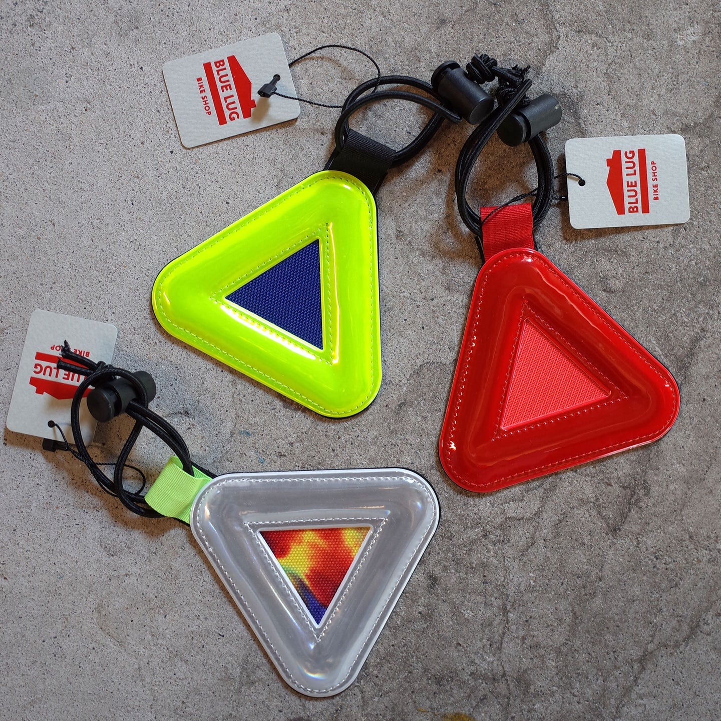 Blue Lug Triangle Bike Reflector