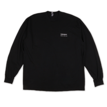 Load image into Gallery viewer, Cyberspace Long Sleeve T-shirt - Black