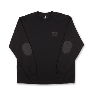 Elbow Pad Long Sleeve T-shirt - Black
