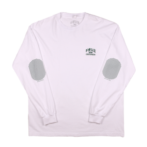 Elbow Pad Long Sleeve T-shirt - White