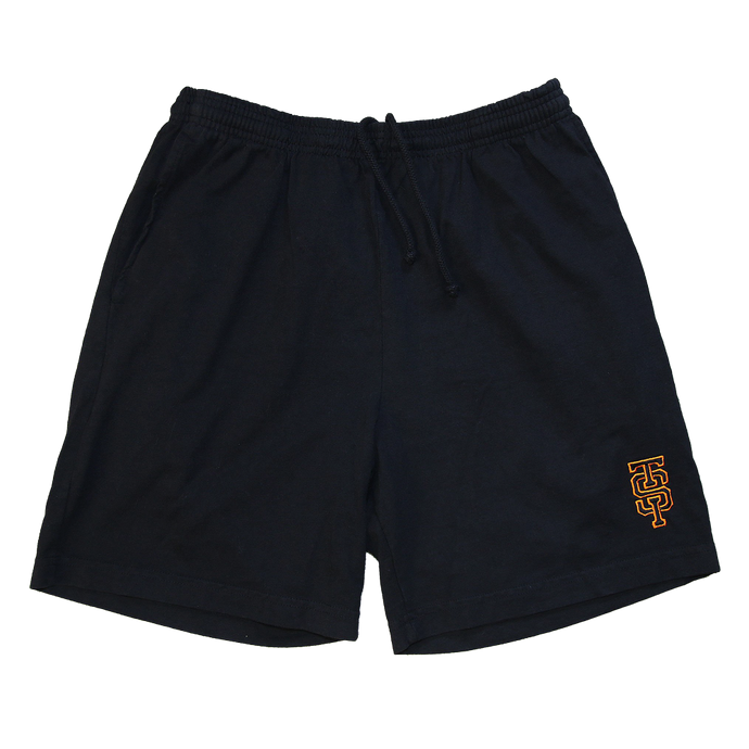 TIS Monogram Heavy Jersey Short - Black