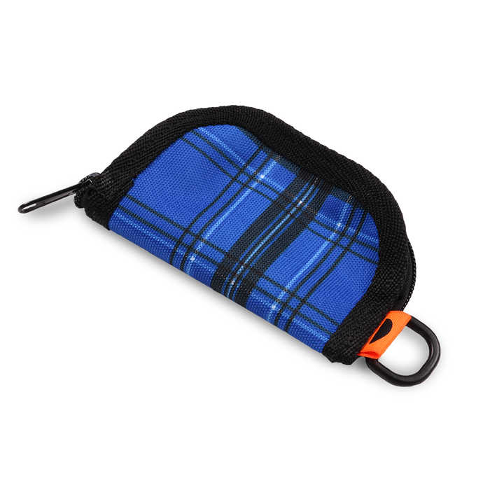 Zipper Wallet Cordura Blue Plaid Tartan
