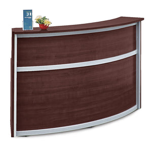 Compass Single Unit All-Laminate Reception Desk