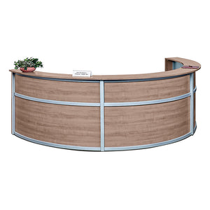 Compass Triple Unit All-Laminate Reception Desk