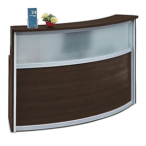 Compass Single Unit Laminate & Glass Panel Reception Desk