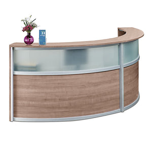 Compass Dual Unit Laminate & Glass Panel Reception Desk