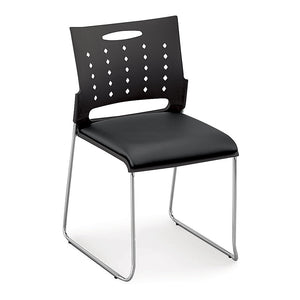 Centurion Plastic Stack Chair with Padded Polyurethane Seat