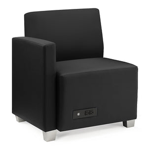 Compass Lounge Chair with Right Arm and Power