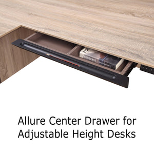 Allure Center Drawer for Adjustable Height Work Desks and Returns