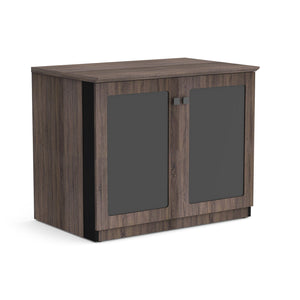 "Allure 36"" x 24"" Low Wall Storage Cabinet with Glass Doors"