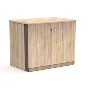 "Allure 36"" x 24"" Low Wall Storage Cabinet with Wood Doors"