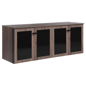 "Allure 72"" x 24"" Low Wall Storage Cabinet with Glass Doors"