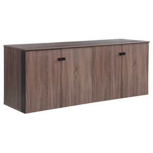 "Allure 72"" x 24"" Low Wall Storage Cabinet with Wood Doors"