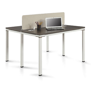 "Element 2-Person Space Saving Workstation 48""W"