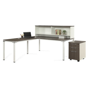 "Element 71""W Desk with Hutch and Mobil Pedestal"